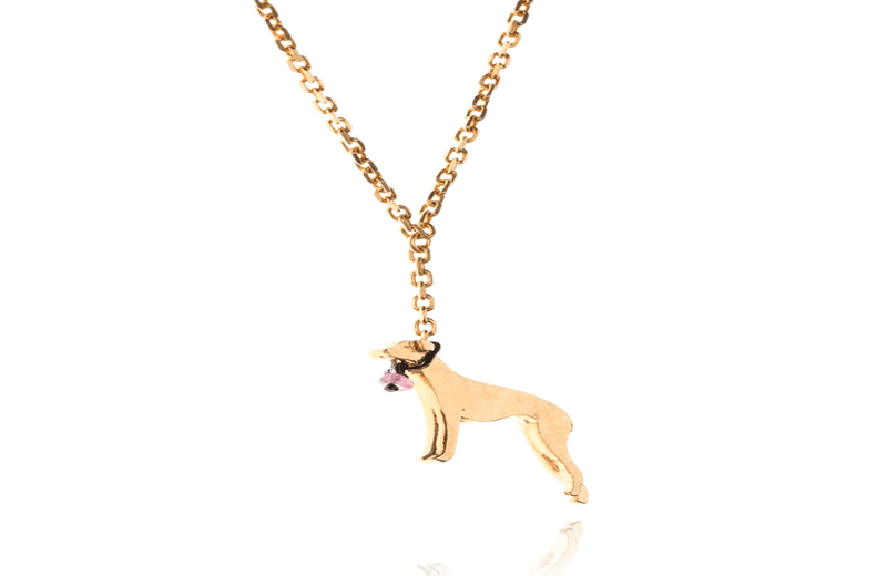 Town Centre Pharmacy  Gold Amanda Coleman Whippet on a Lead Necklace