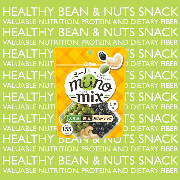 Mix WOWBOX: Miino Mix Edamame, Black Bean, & Cashew Nuts in Salt Flavor