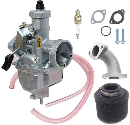 Upgraded Mikuni VM22 26mm Performance Carburetor Upgrade w/ Air Filter + Spark Plug