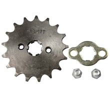 "Load image into Gallery viewer, Upgraded 17"" Tooth Front Sprocket for 125cc Motorcycle - 428-17T"
