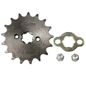 "Upgraded 17"" Tooth Front Sprocket for 125cc Motorcycle - 428-17T"