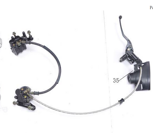 Front Disc Brake Assembly for BD125-11 | Venom X22 125cc Complete Brake Assembly BD125-11GT