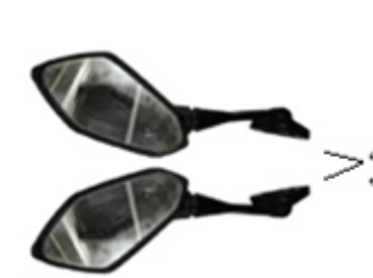 Rearview Mirror Set DF250RTS 250cc Motorcycle | Venom X22R Mirrors | RTS Sport Bike