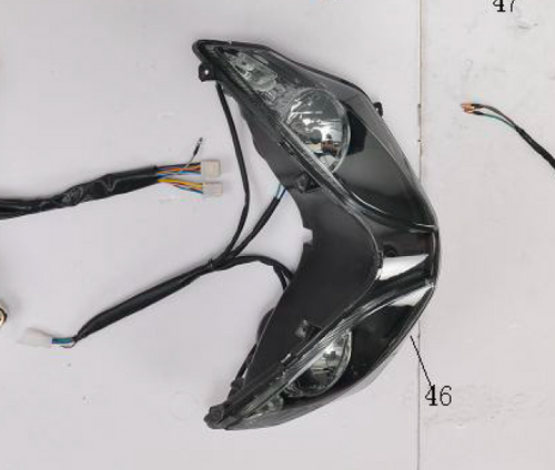 Headlight Assembly for BD125-11 | Venom X22 125cc Complete Headlight
