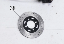 Load image into Gallery viewer, Rear Disc Brake Assembly for BD125-10 | Boom Vader Brake Assembly | Grom Clone Complete Rear Disc Brake Assembly BD125-10