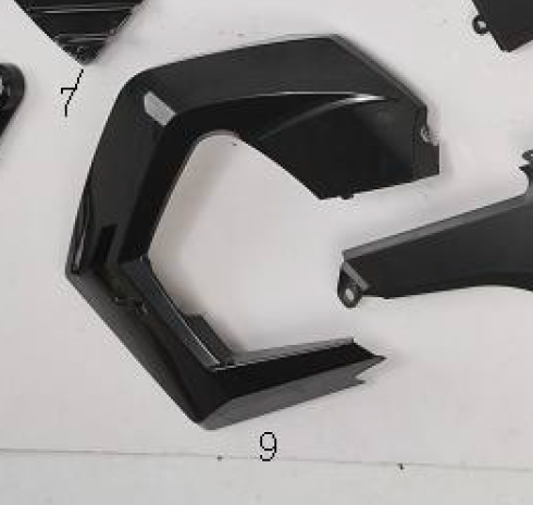 Front Left Side Panel for BD125-15 | Boom 125cc Main Left Plastic | OEM Boom Vader Fairings