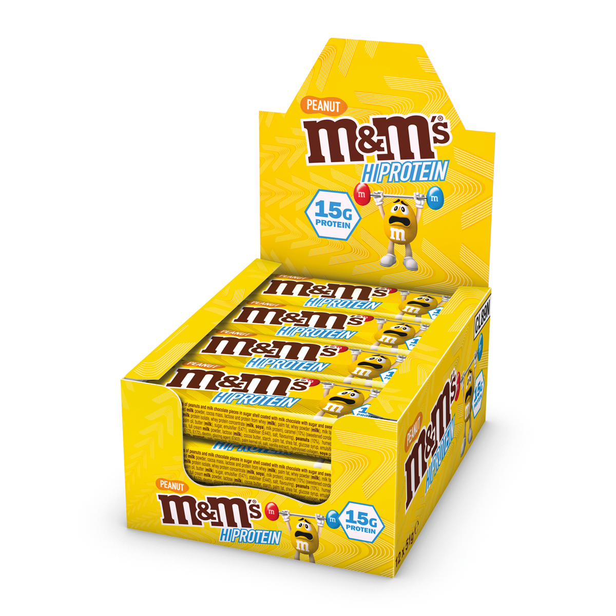 M&M PROTEIN BAR Box of 12