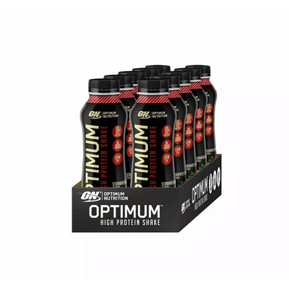 25g Optimum Nutrition High Protein Shake RTD'S 10x330ml Case - Strawberry