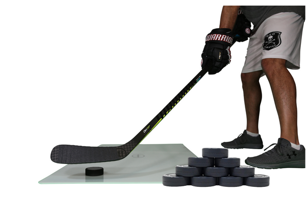 Shooting Board with 10oz Shooting Pucks - 10 Pack