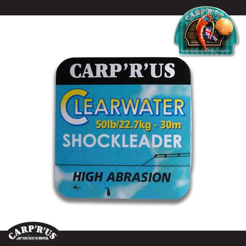 Carp'R'Us - Clearwater Fluorocarbon SHOCKLEADER - 50 lb (20 m) - CarpDeal