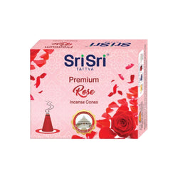 Premium Rose Incense Cones, 25g