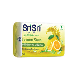 Lemon Soap with Aloe Vera & Glycerine - For Lasting Freshness, 47g
