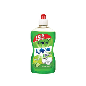 Ujjiyara Liquid Dishwash Lime - Removes Odour, 500ml