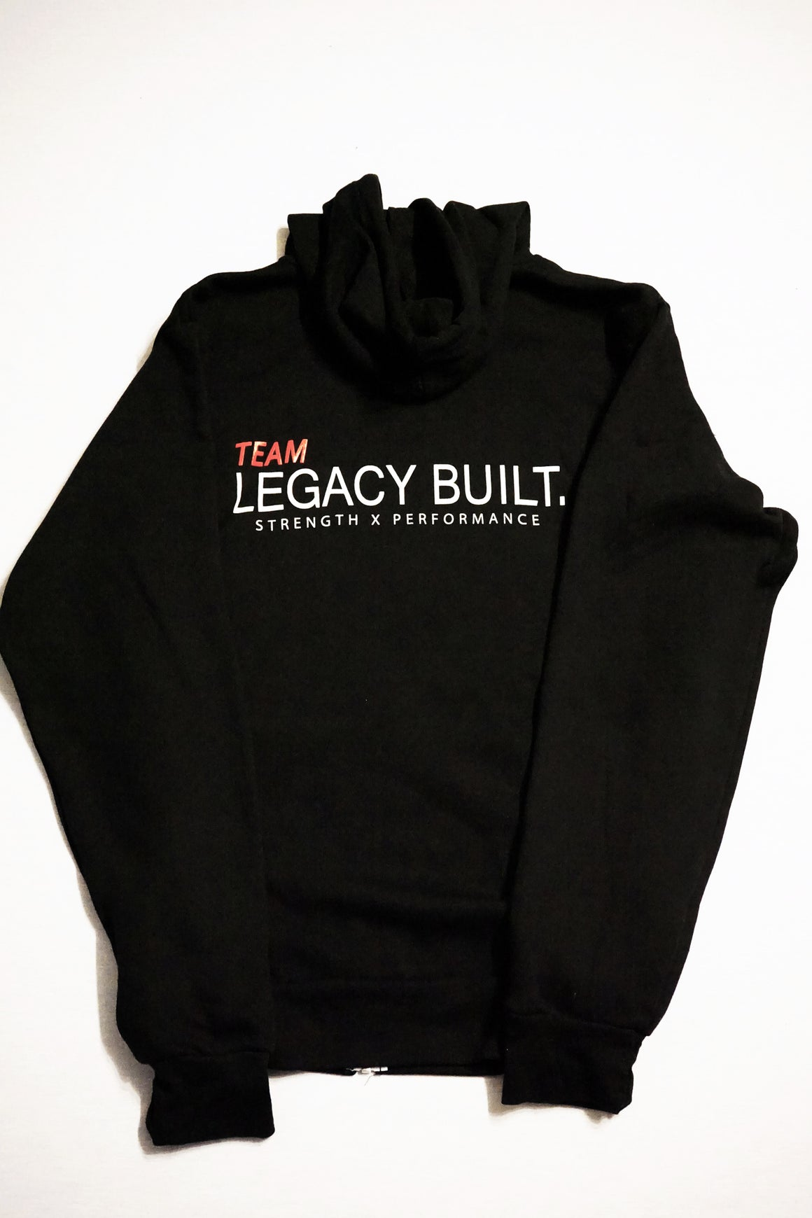 TEAM LEGACY BUILT. ZIP UP - BLACK - LEGACY BUILT. APPAREL