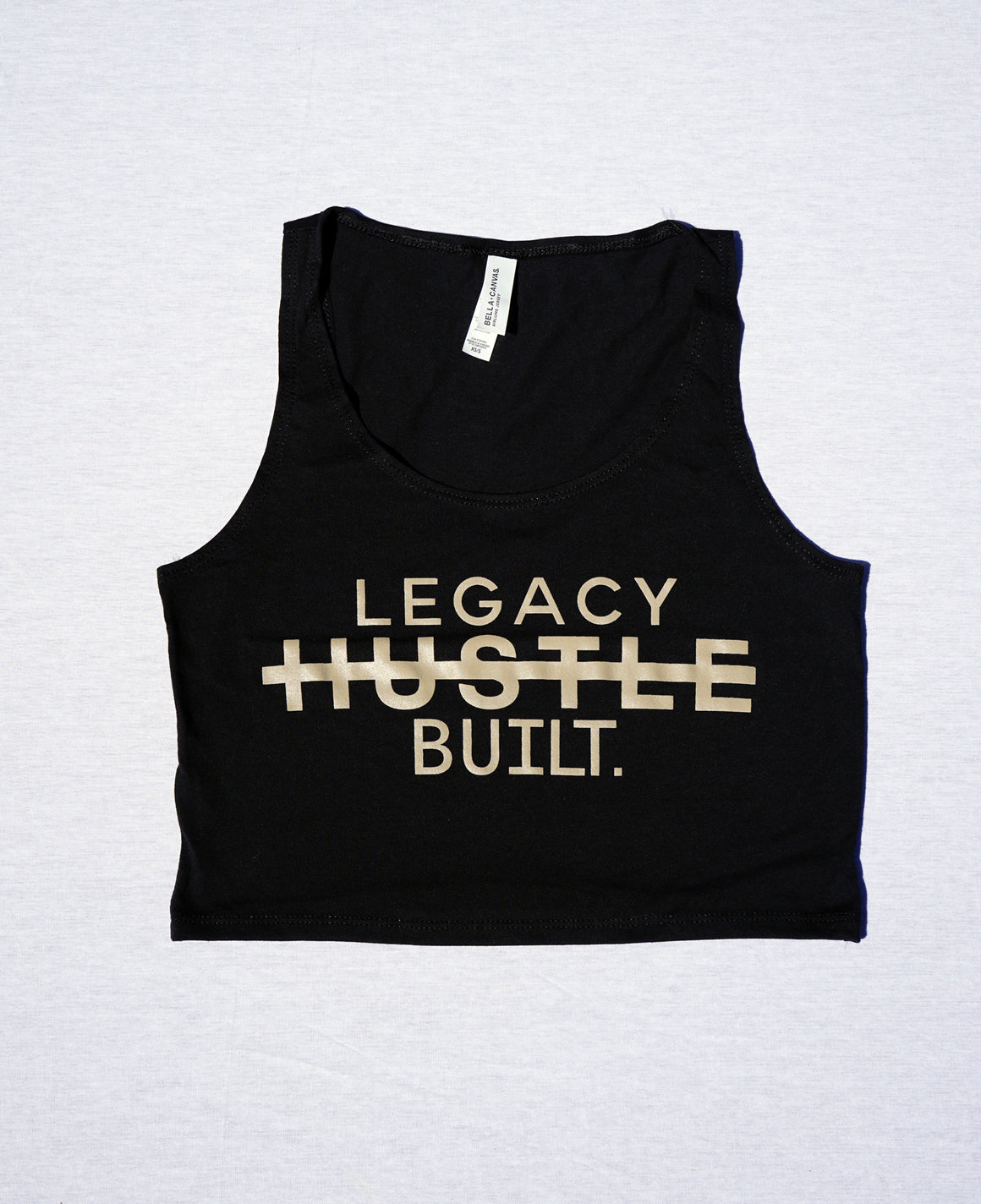 HUSTLE CROP TANK - BLACK