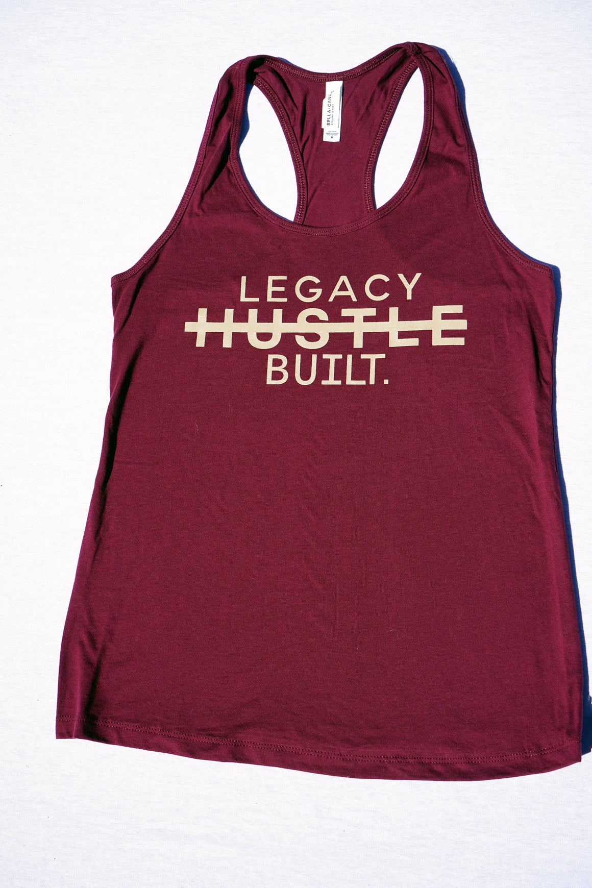 FIT RACER BACK TANK - BURGUNDY