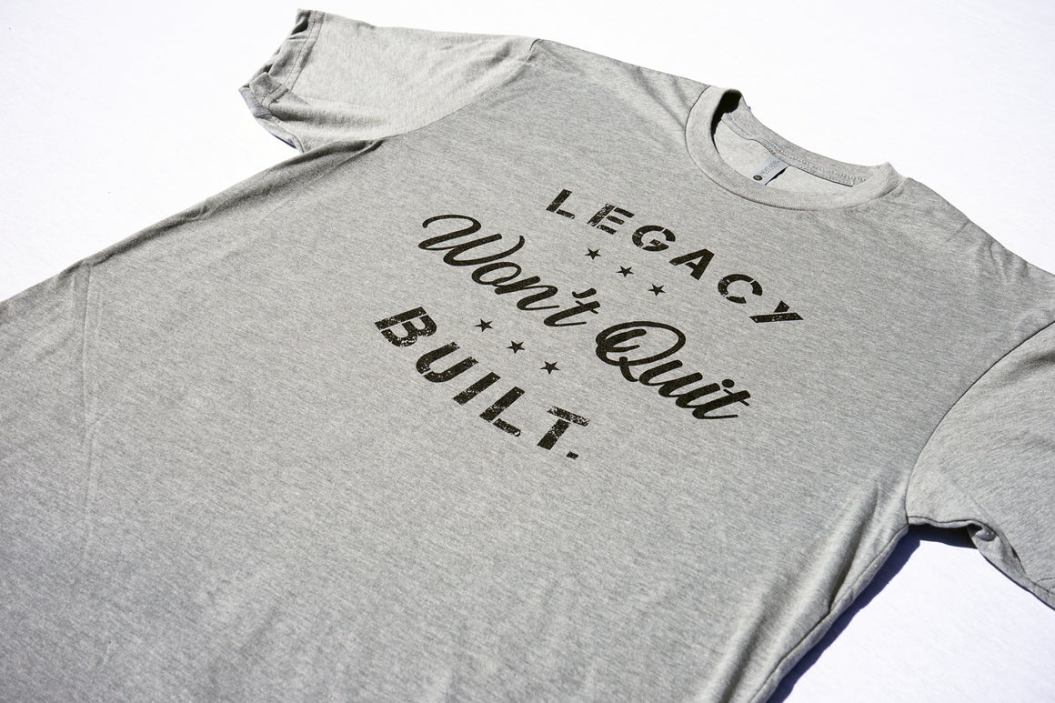 WON'T QUIT TEE - HEATHER GREY