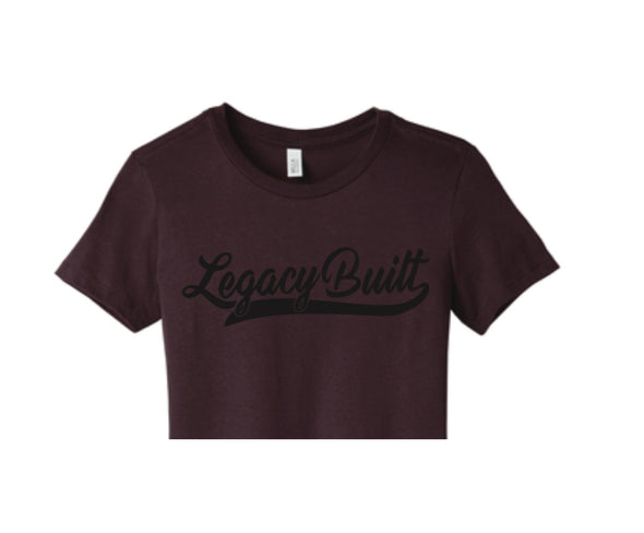 Legacy Built Crop Tee - Burgundy