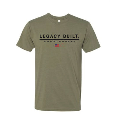 Legacy Built Tee - Military Green