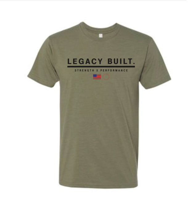 Legacy Built Tee - Military Green - LEGACY BUILT. APPAREL