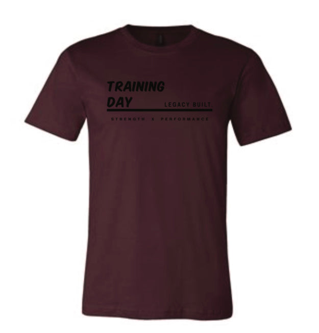 Trainning Day Tee - Burgundy - LEGACY BUILT. APPAREL