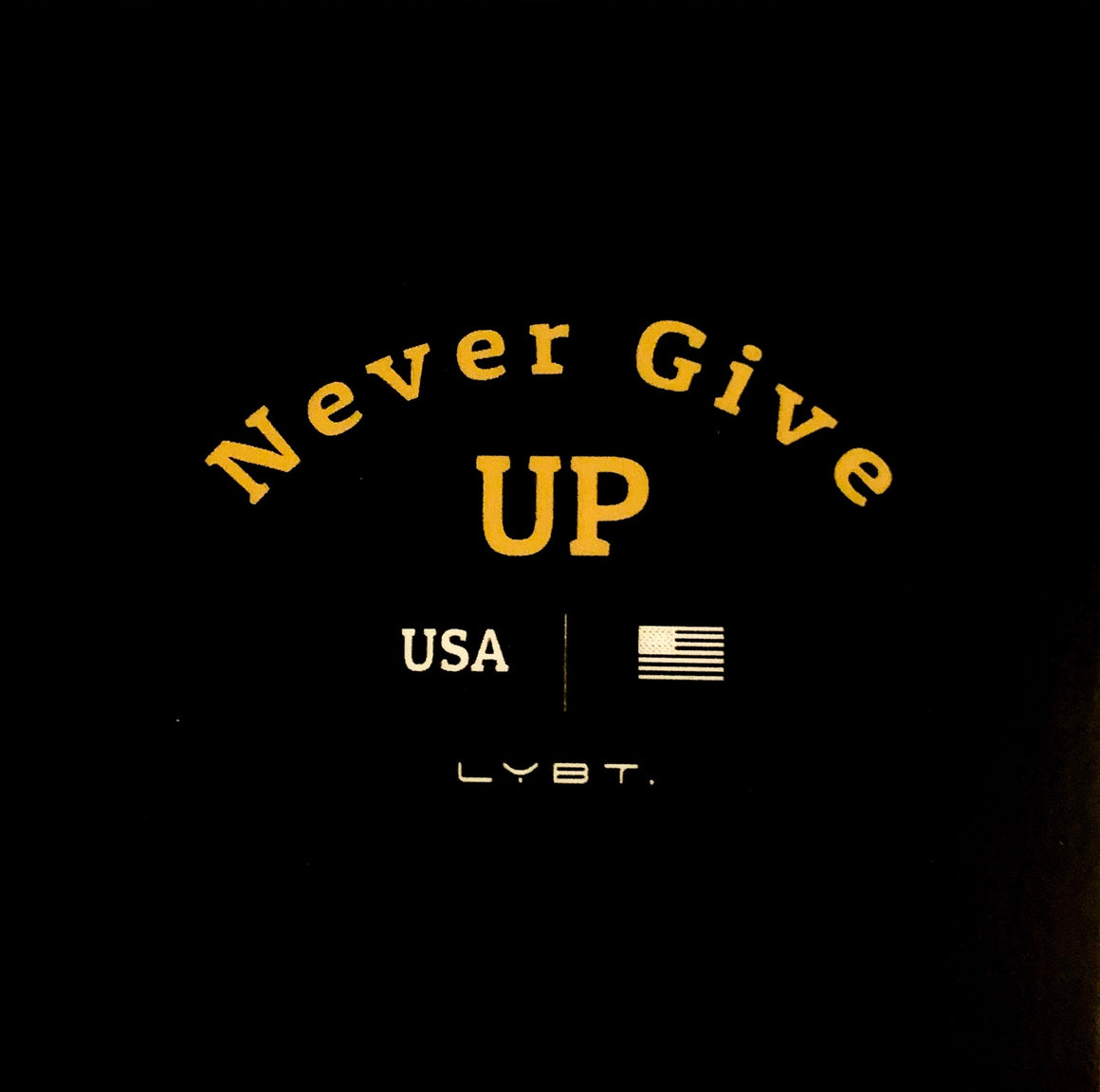 NEVER GIVE UP STICKER - LEGACY BUILT. APPAREL
