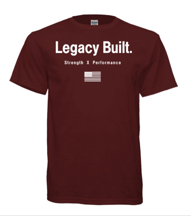 Legacy Built Original Tee - Burgundy
