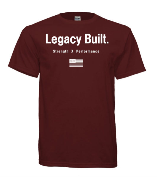 Legacy Built Original Tee - Burgundy - LEGACY BUILT. APPAREL