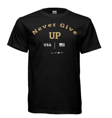 Never Give Up Tee - Black