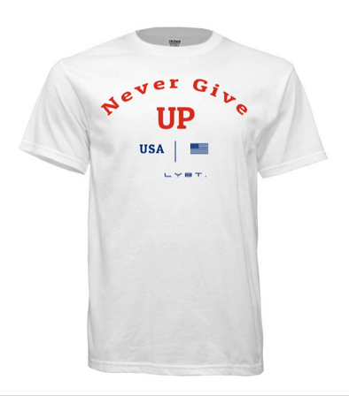 Never Give Up Tee - White