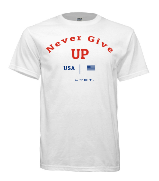 Never Give Up Tee - White - LEGACY BUILT. APPAREL