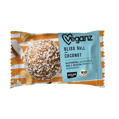 Vegan Bliss ball coconut