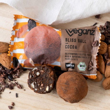 Veganz bliss ball cocoa