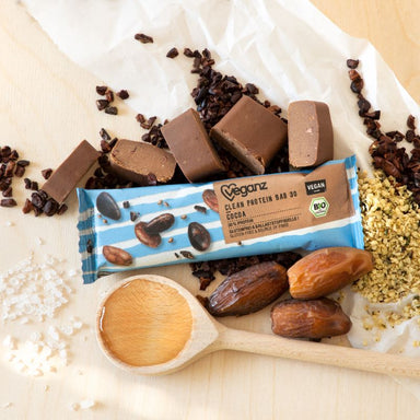 Vegan clean chocolate protein bar