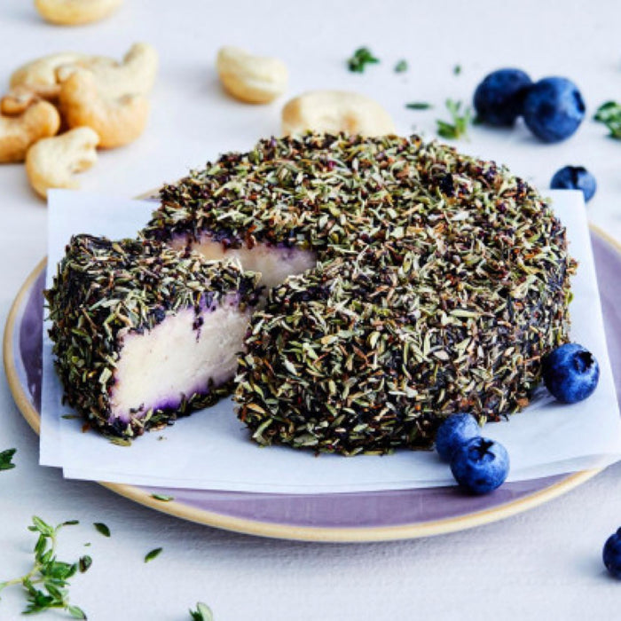 Blueberry Thyme vegan cheese