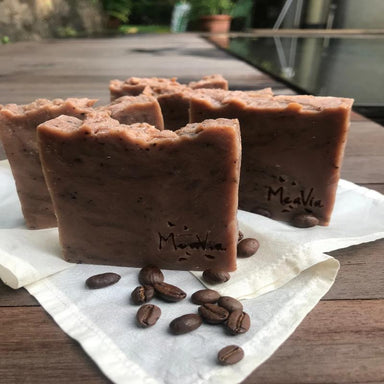 All-natural handmade coffee body soap