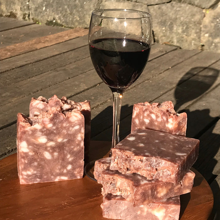 All-natural handmade soaps with red wine