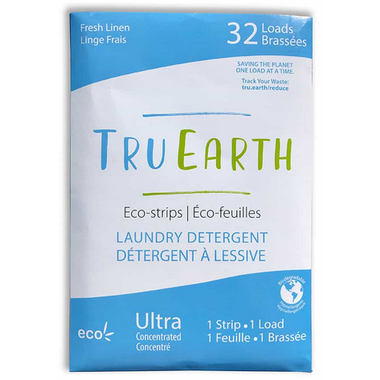 Zero waste laundry detergent strip