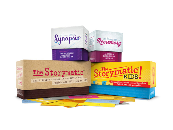 The Storymatic family of creative prompts and games