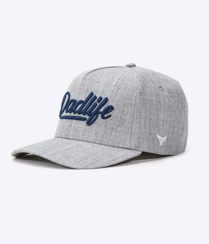 DadLife A-Frame Snapback - Heather Grey