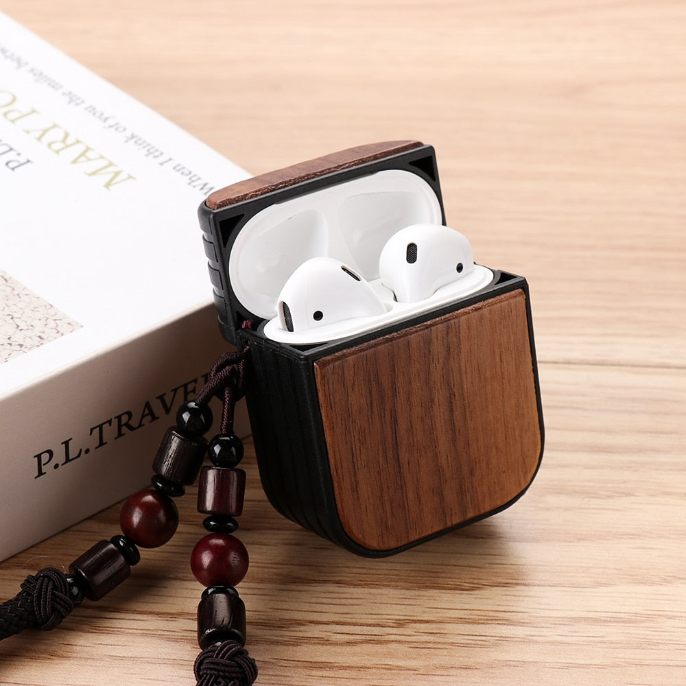 Natural Wooden Airpods Case