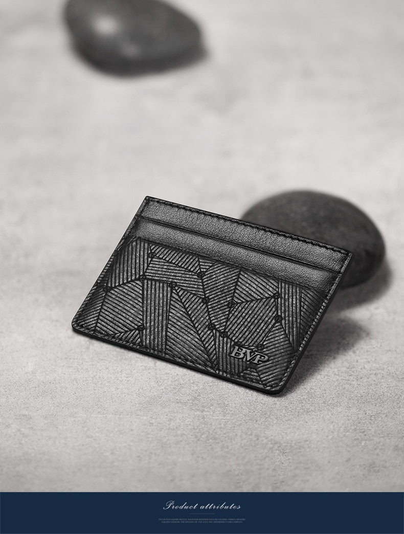 Famous - Genuine Leather Card Holder