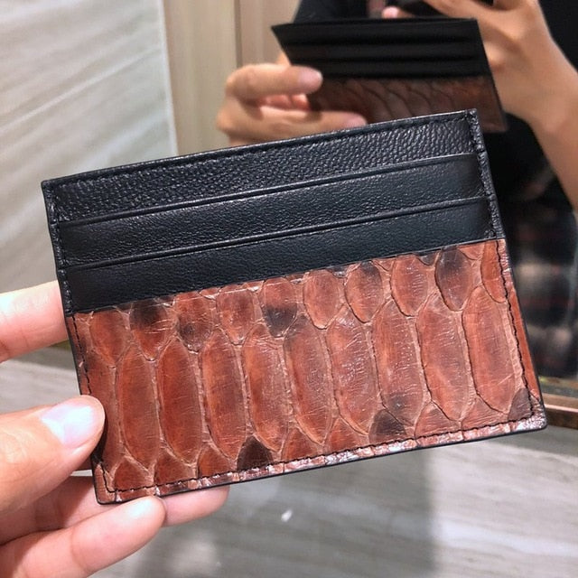 Python Skin Card Holder