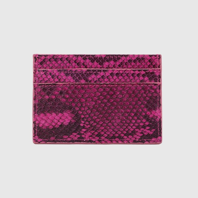 Luxury python card holder