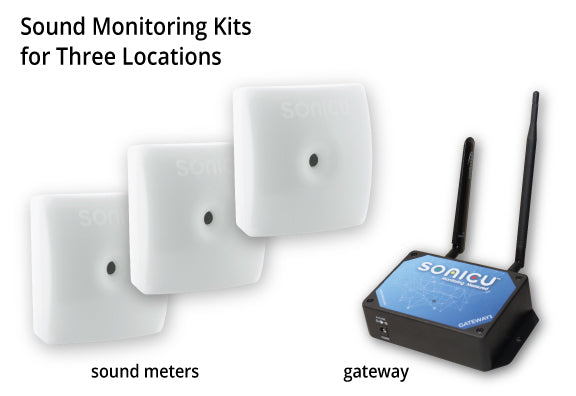Sound Monitoring Kits - 3 Sound Indicating Meters