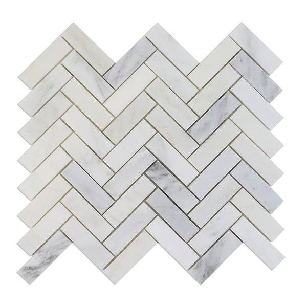 "1"" x 3"" Herringbone Crystal Cloud Mosaic"