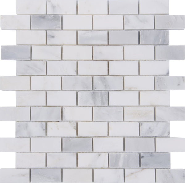 "1"" x 2"" Crystal Cloud Brick Mosaic"
