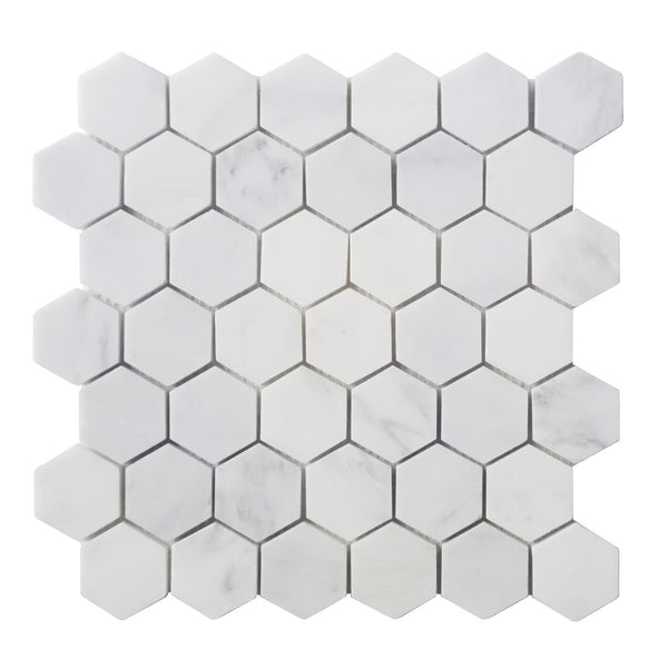 "2"" Hex Crystal Cloud Mosaic"