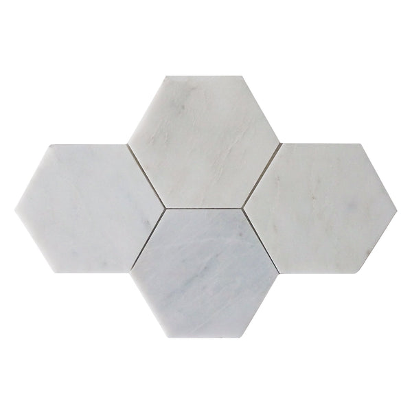 "6"" Hex Crystal Cloud Mosaic"