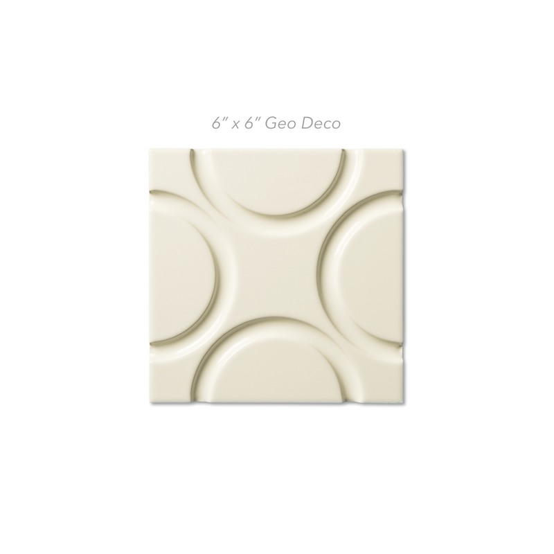 Solid Glaze Bone Deco Tile